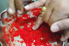Ugadi  Telugu New Year (emmydavid) Tags: new red festival year celebration andhra usher vermillion telugu sindoor