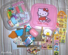 gift from artsyfartsyprod pic2  (iheartkitty) Tags: fun nicole thankyou hellokitty gift goodies spoiled trinkets