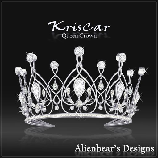 KrisCar Queen Crown white