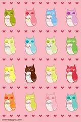 OWLS Pink iPhone Wallpaper