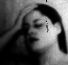 ...and then comes affliction (Michelle Brea) Tags: portrait bw woman blur art self photography moments artistic capture affliction feelings michellebrea photodistorzija4