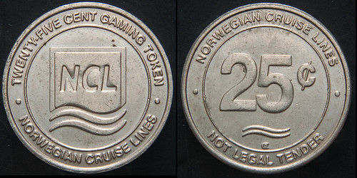 NCL 25 cent Gaming Token