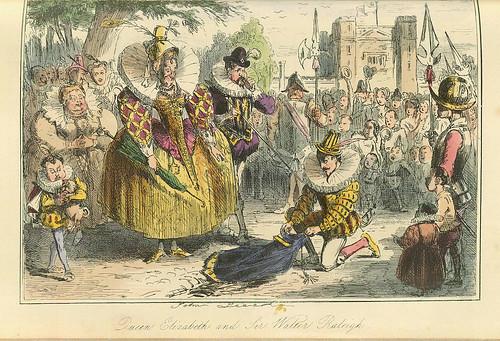012-La reina Elizabeth y Sir Walter Raleigh