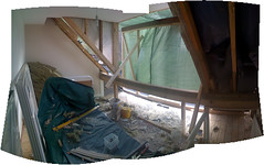 Remixing Gramps' room... (Imran) Tags: panorama home construction photomerge