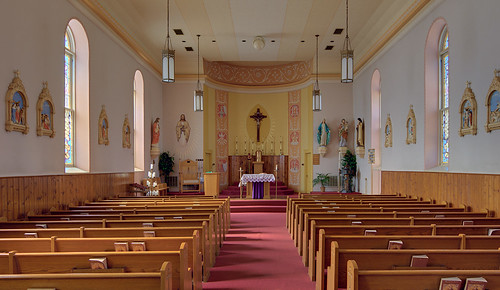 Saint Joseph Church, in Meppen, Illinois, USA - nave