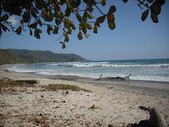 Mal Pais Beach at high tide.