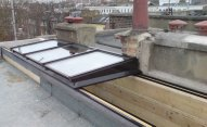 PRED604 Fully Retracting Single Pitch Slide Open Glazed Roof Light for Roof Garden Access
