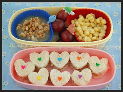 Bento #65 - Rainbow Hearts