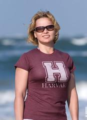 Vicky and Harvard T-Shirt. (DeusXFlorida (9,099,774 views) - thanks guys!) Tags: ocean portrait beach nikon florida atlantic atlanticocean womensportraits manuallens nikond60 nikkorp180mmf28