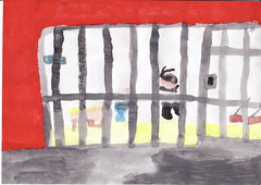 painting of a prison cell