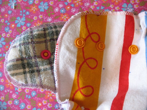 front of fitted diaper