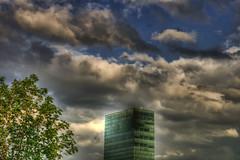 Messeturm (dongga BS) Tags: clouds schweiz switzerland wolken basel hdr hochhaus wolkenkratzer messeturm photomatix tamron1750mm eos400d