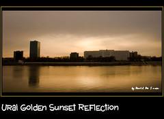 Ural Sunset Reflection / Reflejo de un Atardecer sobre El Ural (Far & Away (On assigment, mostly off)) Tags: light sunset