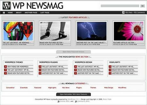 WP Newsmag Free Wordpress Theme