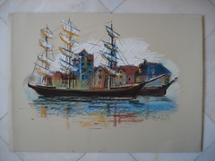 Vikying (OceanOFdreams) Tags: color painting paper boat pastel arts dream relaxing sail traveling papel sailboats sec viking escandinavia secpastel manuworld manuworldfantasy vikyings escandinanian funknjjazzy