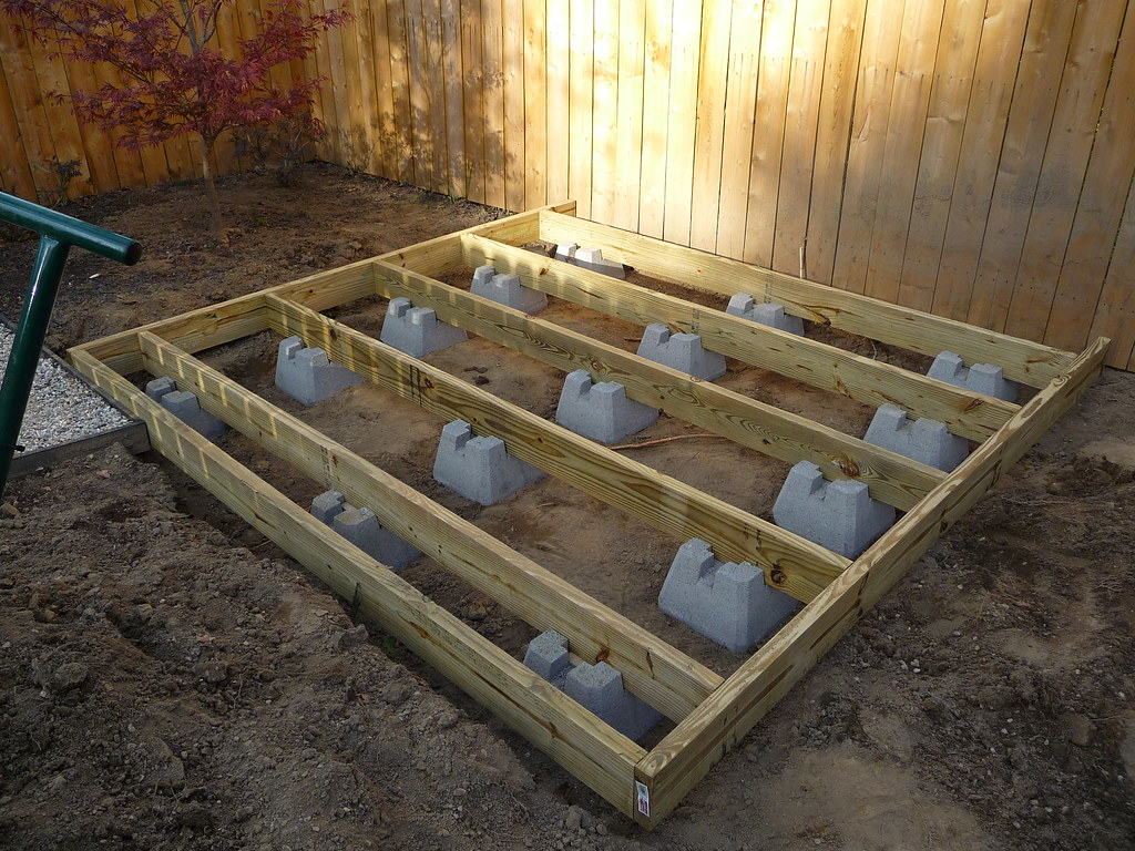 Build shed using deck blocks, free picnic table plans 2x4