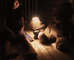 66/365  We can't go on like this (kernuf) Tags: bear lamp night weird dress teddy deck brownie deanna day66 365days kernuf