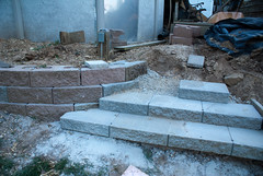 Stairs (Danny Heckstetter) Tags: 2009 homeimprovement retainingwall
