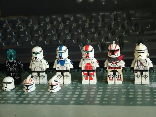 custom minifig Star wars clone troopers