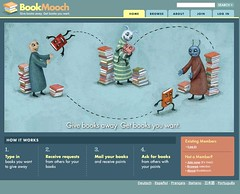BookMooch: exchange books and trade them, like a book swap or book barter