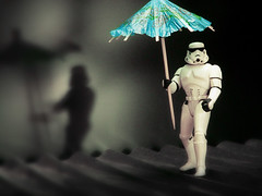 Stormy Weather (JD Hancock) Tags: blue favorite trooper umbrella catchycolors toy actionfigure star starwars interesting funny action humor explore cc parasol figure scifi stormtrooper wars 5k 1k veryinteresting thesecretlifeoftoys catchycolorsblue nogeo inkitchen jdhancock