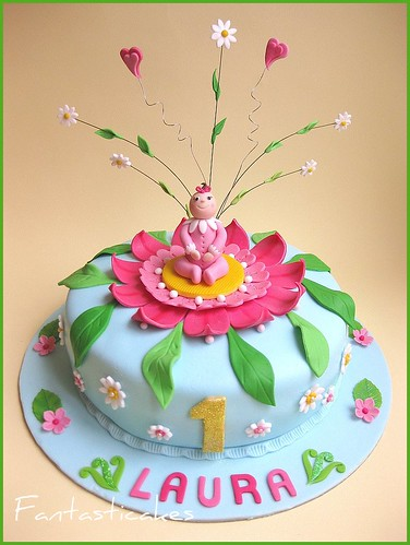Torta bebe in un fiore / Baby in a flower cake