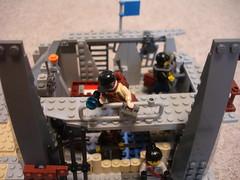 Get Down!!! (the holy moly212) Tags: lego nuclear battle custom diorama raiders survivors apocolypse apocalego