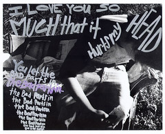 i love you so much that it hurts my head , you let the bad parts in. (AndreaLPhoto) Tags: new white black love film that hurts lyrics purple post you head andrea secret it and much sharpie brand palma postsecret my i so