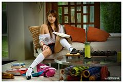 Sexy Schoolgirl 7... (peterjaena) Tags: sexy fashion nikon legs models thong sofie heels nikkor schoolgirl undies fhm 1755 d300 garrucho
