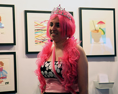 Artomatic 2009 Princess Sherill (Mr. T in DC) Tags: people art washingtondc dc paintings artists dcist prints wigs princesses artomatic tiaras sherill sagworks sherillannegross artomatic2009