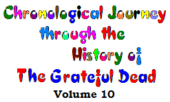 Chronological History of the Grateful Dead - Volume 10