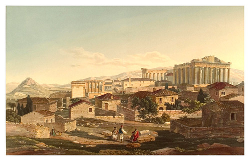 022- Frontal oeste del Partenon-Views in Grece 1821
