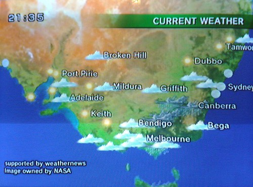 Nintendo Wii weather map