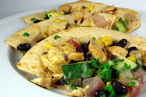 Pink Parsley: Chicken and Summer Vegetable Tostadas