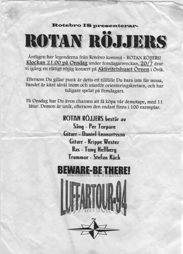 Rotan Röjjers i Övik 1994