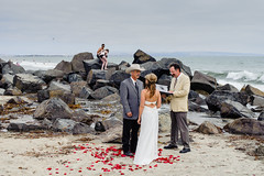 Coronado Beach (Jack Simon) Tags: wedding beach rose petals rocks surf strangers couples coronado texan loveontherocks mobformat11worldscollide