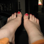 My ouchy feet after walking all over London thumbnail