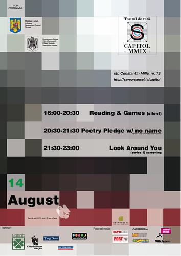 Reminder: 14 August @ Teatrul de vara CAPITOL