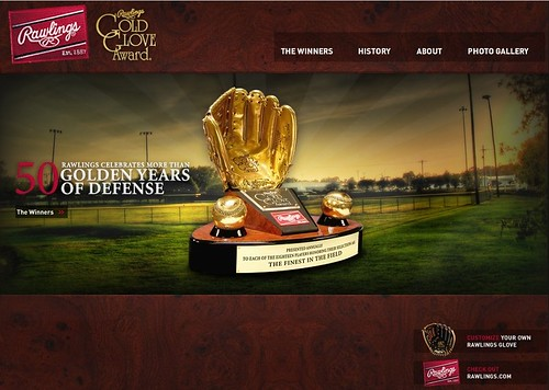 Rawlings Gold Glove Website 2008-2009