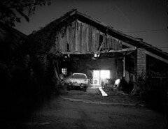 Charroux night (Amanda Tomlin) Tags: france tmax linhof peugeot belaye acu1 lot46 onexplorewhatamiracle