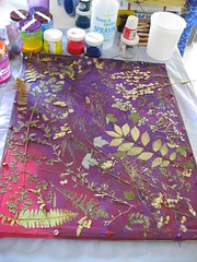 IMG_7997  Laying out leaves for sun-printing