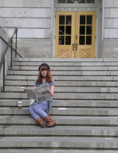 Em on steps of Wheeler