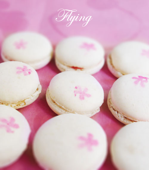 Cherry Macarons (with title)