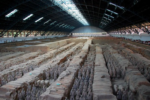 pit 1, army of terra cotta soldiers, xian