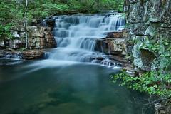Fenwick Mines Waterfall (curtisWarwick) Tags: green water creek landscape waterfall smooth mines hdr fenwick