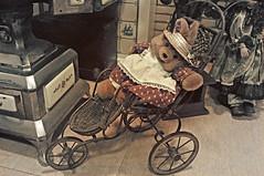 Vintage doll's pram (IngeHG) Tags: bear hat cane toy dress transport thenetherlands apron bergenopzoom ward pram mils carehome dollspram manualnikon memorycorner 21theme vintagestyledollsdress strawdollshat d90t189522011week