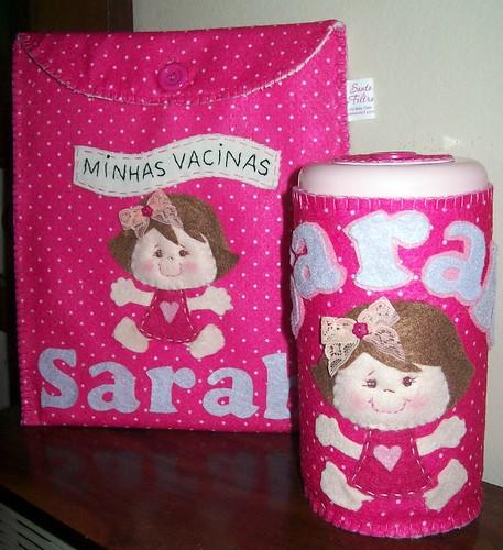 Kit carteira de vacina e Lenços umedecidos Sarah by edilmarasantiago