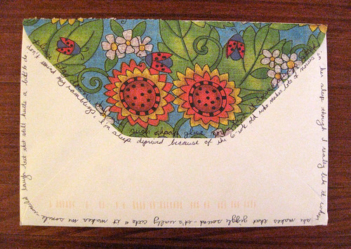 Late-night musings on a pretty envelope