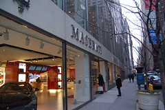 4:55, outside the Maserati store