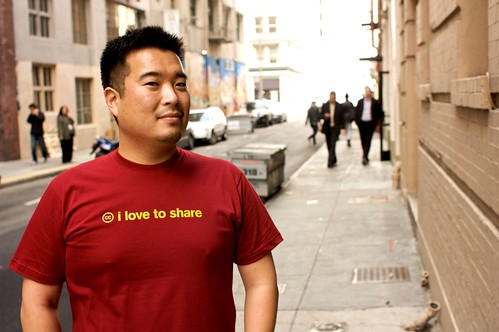 Creative Commons tshirt: I love to share!